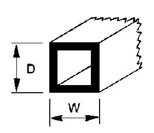 4 Plastruct Square Tube ABS 5//16 90204