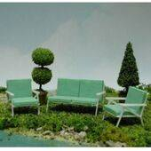 BENCH-PATIO 1:48 3PC SET-BENP-48