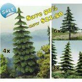"CONIFEROUS TREES 3"" to 5.75"" tall 13PC TREEPK-13"