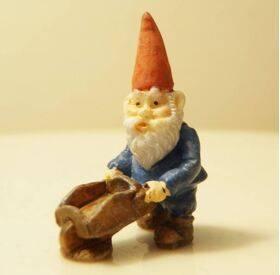 Garden Gnome Wheelbarrow