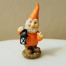 Garden Gnome Lantern-orange