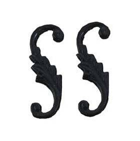 Brass Hardware 4pc S-Hook Black