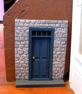 Fairy House Kit Block with transom door
