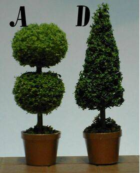 TOPIARIES 1:24 RND 'A' 1PC