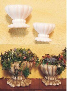 "PLANTER POTS 1/2"" top dia. 10pc H3-02"