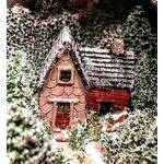 miniature house shown painted