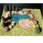 POND KIT with LANDSCAPING 1:24 or 1:12 KITPOND-12