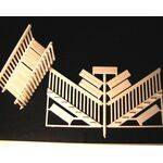RAILING DECK STAIR RAIL & STEPS 1:48 (O gauge)