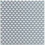 PATT SHT 7X12''CHECKER PLATE CLEAR