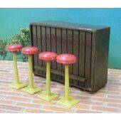BAR & STOOLS 1:24 5PC