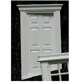 DOOR-EXTERIOR W/PEDIMENT 1:24-J2401