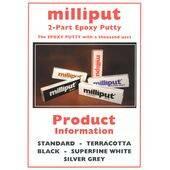MILLIPUT EPOXY SILVER/GREY 4OZ. MEP-2