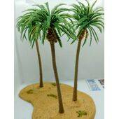 TREE-PALM 6'' 160mm TALL PLASTIC 5pc