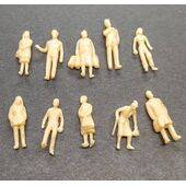 FIGURES SUPER PEOPLE SITTING10pc 1:87 PES-87SIT