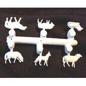 SHEEP & HERD DOG -1:87 HO scale 6PC