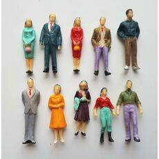 FIGURES PAINTED PEOPLE 10pc O SCALE PEP-O