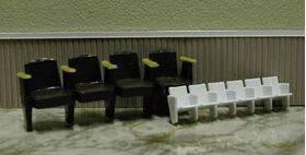 THEATRE SEATS 1:24 4 SEATS