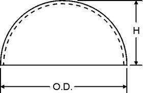 HEMISPHERE 1.25'' DIA.CLEAR 5PC VHH-40-95850