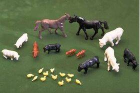FARM ANIMALS 1:48 24PC-ANIM-48