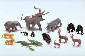 JUNGLE ZOO ANIMALS HO (1:87) 16pc ZOO-87