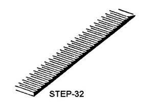 "STEPS/LOUVERS 2""x1"" 1:400 2PC-STEP-32"