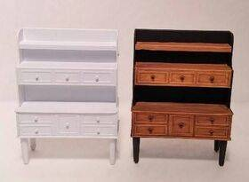 BUFFET HUTCH 1:24 1PC shown painted on the right