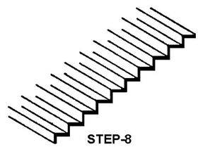 "STEPS/LOUVERS 3""X1 1/2"" 1:100 1PC-STEP-8"