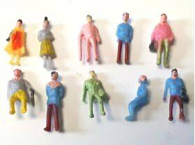 FIGURES PAINTED PEOPLE 10pc N SCALE PEP-N