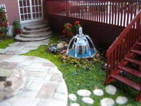 O scale model fountain
