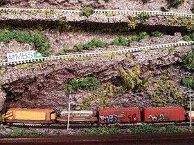 Trains shown painted