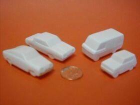 CARS 1:125 (3/32) WHITE 6PC