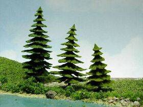 TREE-PINE/FIR 9CM 3PC