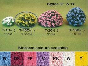 BLOSSOM BUSH 1.5''Dia. VIOLET 2PC