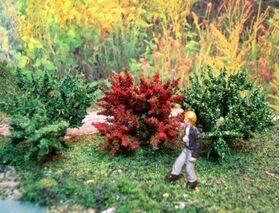 GARDEN DELIGHTS shrubs on a model
