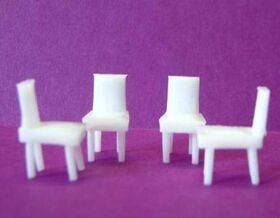 CHAIR ARMLESS 1:48 4PC
