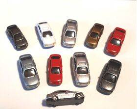 CARS 1:200 COLORED 10PC
