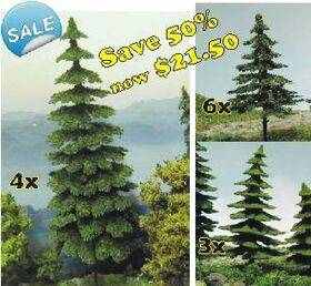 "CONIFEROUS TREES 3"" to 5.75"" tall 13PC TREEPK-13"