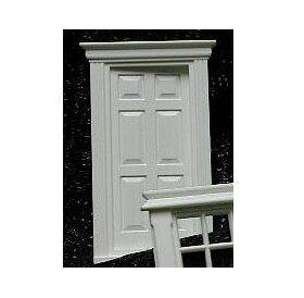 DOOR-EXTERIOR W/PEDIMENT 1:24-J2401
