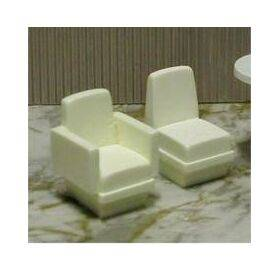 CHAIR SOLID ARMLESS 1:24 1PC