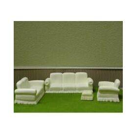 LOVE SEAT 1:24 WHITE 1PC