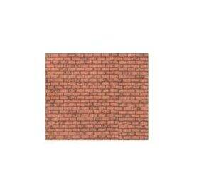 PAPER-RED BRICK 1:100-HO 2PC-PSP-97
