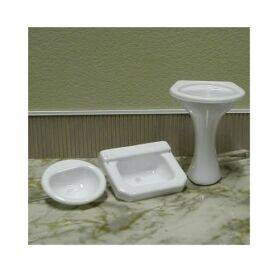SINK-PEDESTAL 1:12 WHITE 1PC
