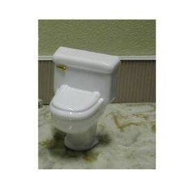 TOILET-GOLD HNDL/WHITE 1:12