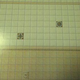 """PAPER-TILES CREAM/GOLD 11X16"""" F06-39"""