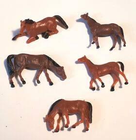 HORSES 1:87 HO 5PC