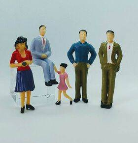 FIGURES PAINTED PEOPLE 5pc G SCALE PEP-G