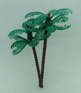TREE-PALM 3'' 75mm TALL PLASTIC 20pc