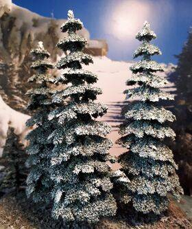 TREE BLUE SPRUCE 5.75'' tall  4PC TSDF-15BS