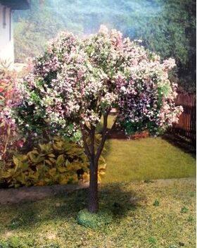 "TREE-PREMADE 5-3/4"" tall APPLE BLOSSOM 2PC TRAP-16BL"