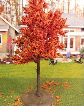 TREE-PREMADE 5.5'' AUTUMN ORANGE 2PC
